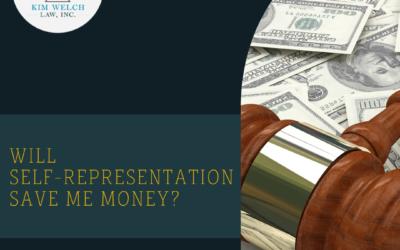 Will Self-Representation Save Me Money?